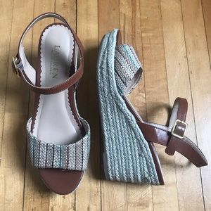 Ralph Lauren Leather and Jute Wedges - 7
